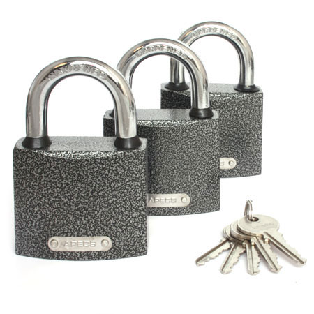 Замки висячие Apecs  PD-01-63 (3Locks+5Keys)